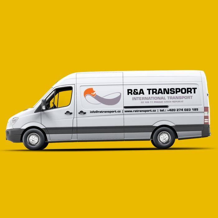 reklamní polep dodávky RA Transport