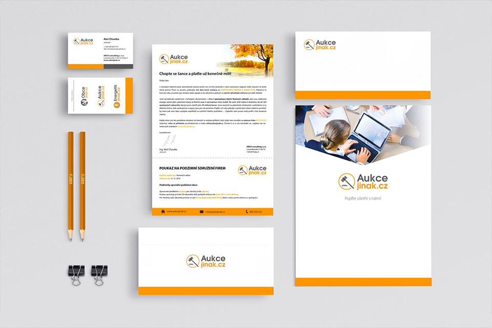 grafický návrh corporate identity Aukcejinak
