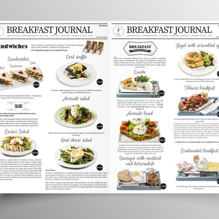 grafický návrh jídelního menu