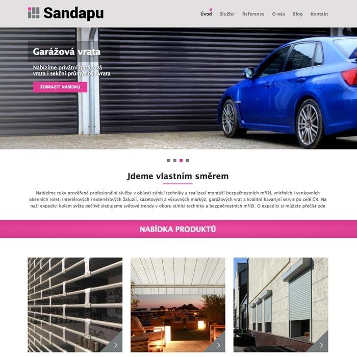 Tvorba webových stránek - stínící technika
