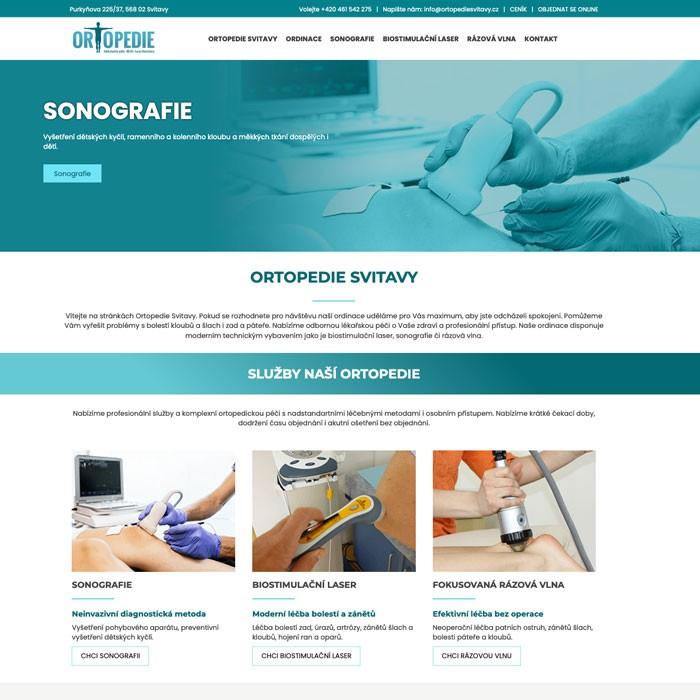 Tvorba webových stránek ortopedické ordinace