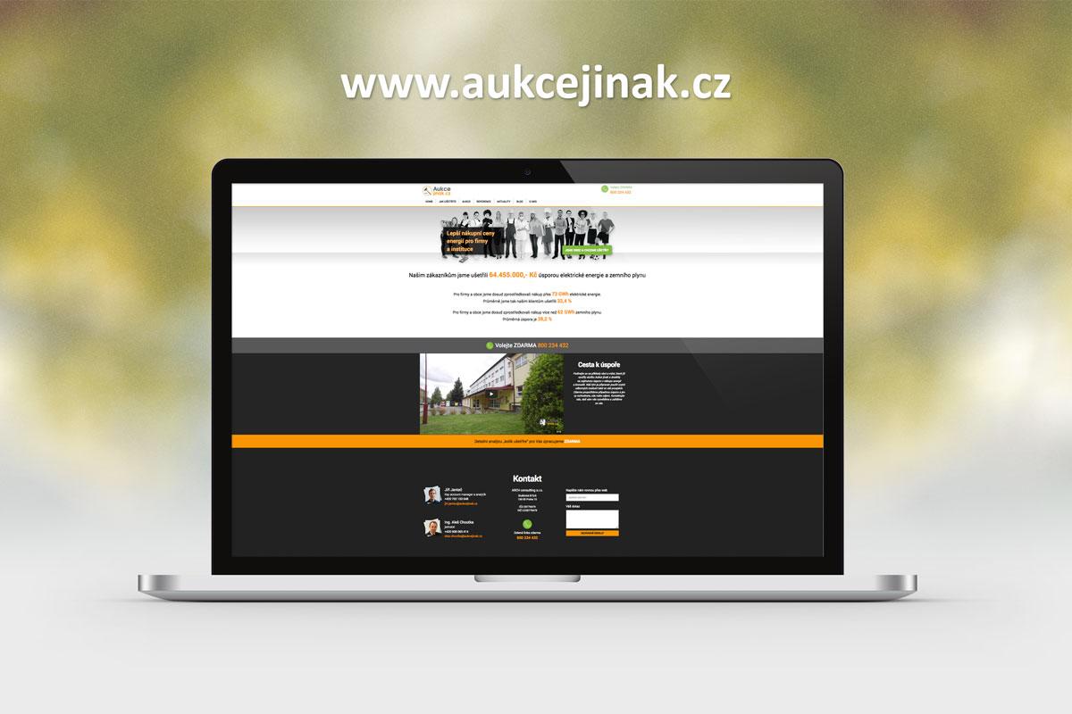 tvorba webových stránek aukcejinak