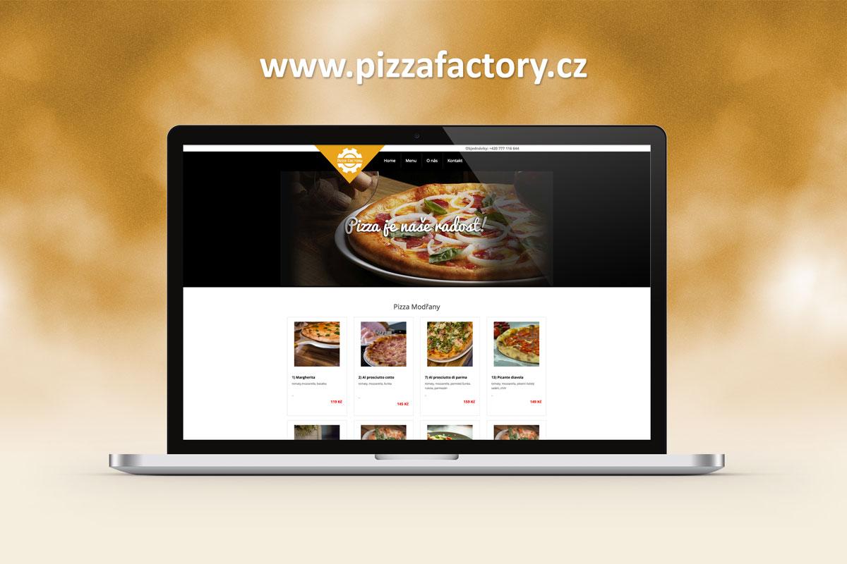 tvorba webových stránek pizzafactory