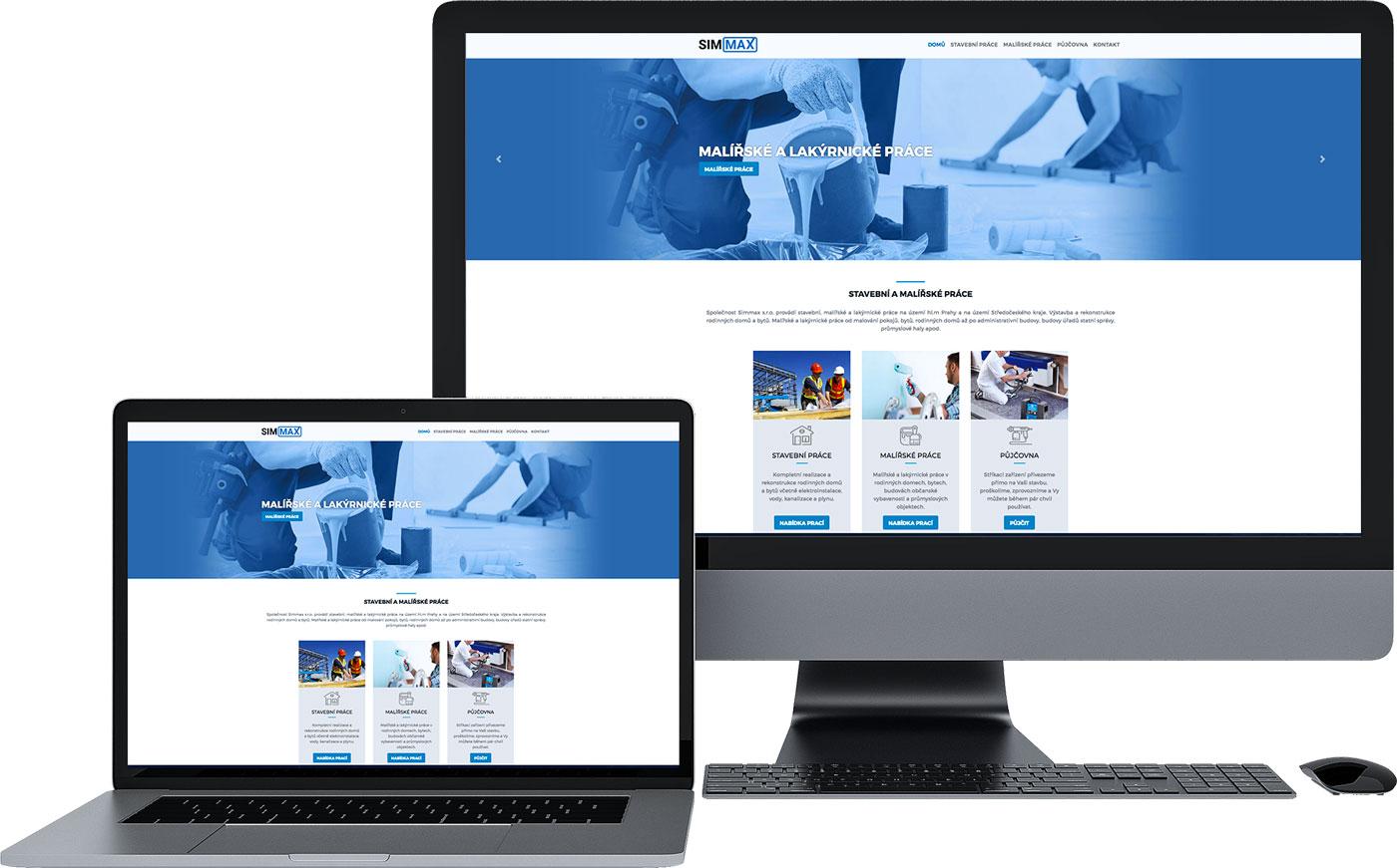 tvorba webových stránek stavební firmy Simmax