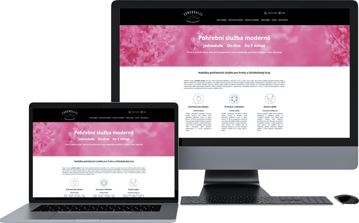 tvorba webových stránek pohřební služba praha